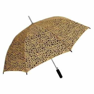 Bruin/zwarte luipaard goedkope paraplu
