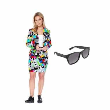 Dames mantelpak testbeeld goedkope (l) gratis zonnebril