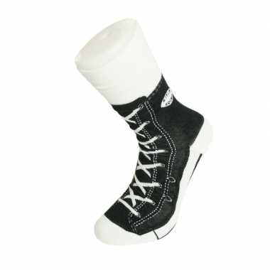 Foute sokken zwarte sneaker goedkope volwassenen maat