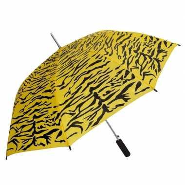 Geel/zwarte tijger goedkope paraplu
