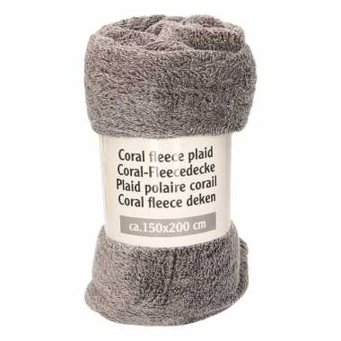 Goedkope antraciet gemeleerde fleece deken
