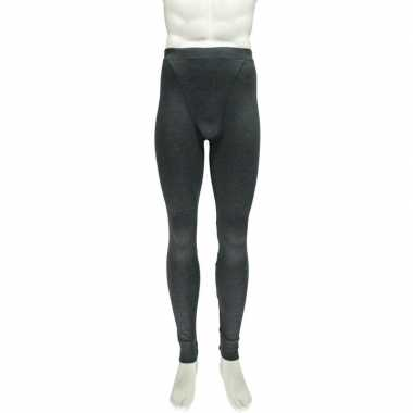 Goedkope antraciet thermo legging heren