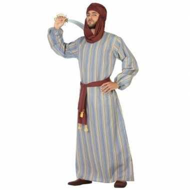 Goedkope arabische strijder ali verkleed kostuum/gewaad heren