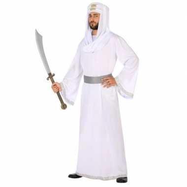 Goedkope arabische strijder hassan verkleed kostuum/gewaad heren