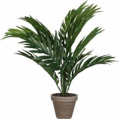 Goedkope areca palm kunstplant groen pot