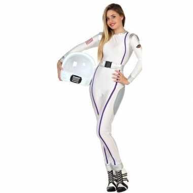 Goedkope astronauten verkleed kostuum/jumpsuit dames