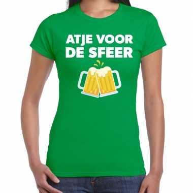 Goedkope atje sfeer feest t shirt groen dames