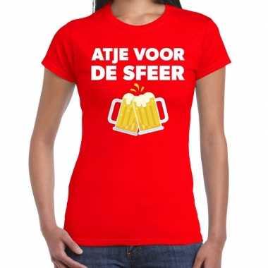 Goedkope atje sfeer feest t shirt rood dames