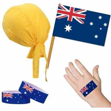 Goedkope australie/australisch thema verkleed set volwassenen