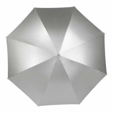 Goedkope automatische paraplu zilver