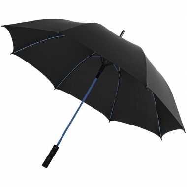 Goedkope automatische storm paraplu zwart/blauw