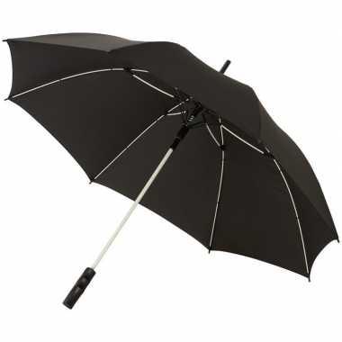 Goedkope automatische storm paraplu zwart/wit