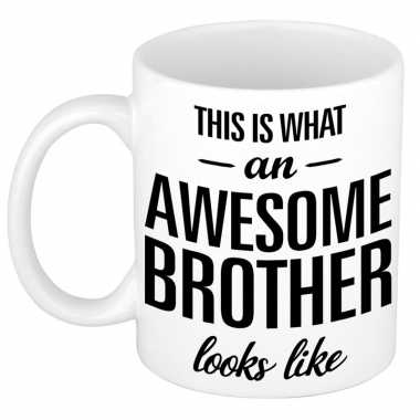 Goedkope awesome brother cadeau mok / beker broer