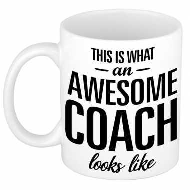 Goedkope awesome coach cadeau mok / beker