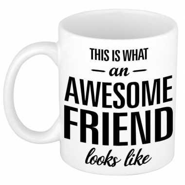 Goedkope awesome friend cadeau mok / beker vriend of vriendin