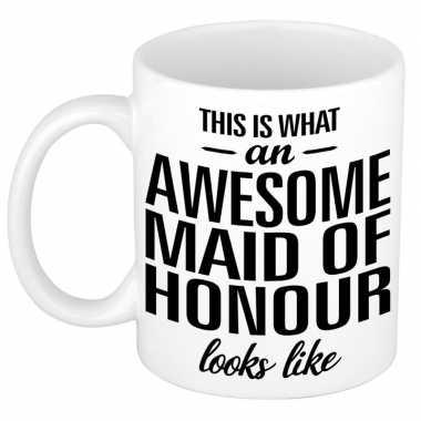 Goedkope awesome maid of honour cadeau mok / beker getuige