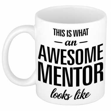 Goedkope awesome mentor cadeau mok / beker leraar