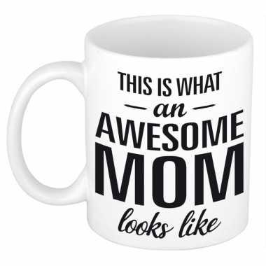 Goedkope awesome mom cadeau mok / beker moederdag