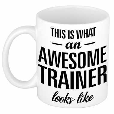 Goedkope awesome trainer cadeau mok / beker