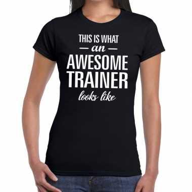 Goedkope awesome trainer cadeau t shirt zwart dames