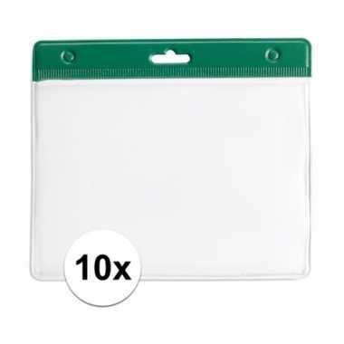 Goedkope badgehouders groen 10084588