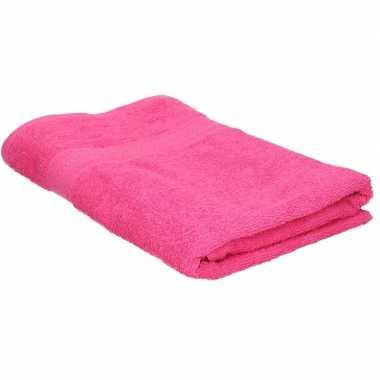 Goedkope badhanddoek fuchsia roze grams