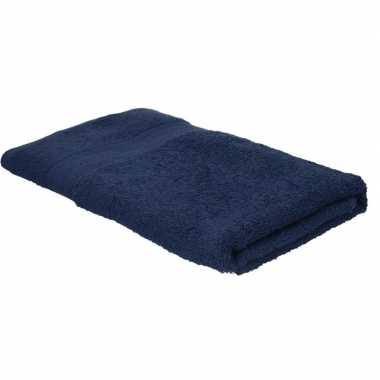 Goedkope badhanddoek navy blauw grams