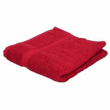 Goedkope badhanddoek rood grams