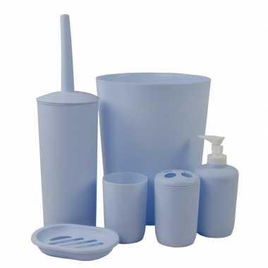Goedkope badkamer toiletset blauw | Goedkope.info
