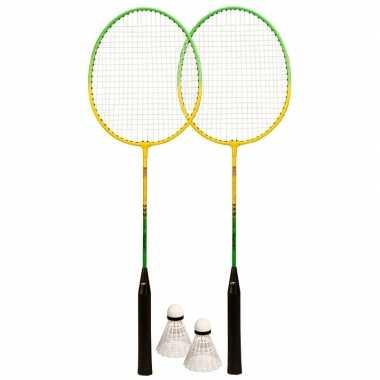 Goedkope badminton set inclusief shuttles