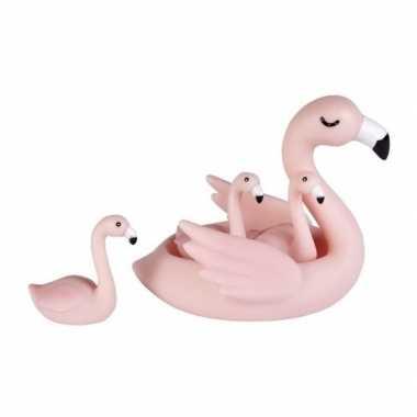 Goedkope badspeeltjes set flamingo