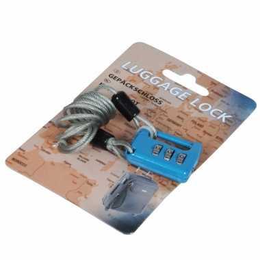 Goedkope bagageslot cijfercode blauw