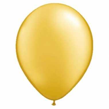 Goedkope ballonnen metallic goud stuks