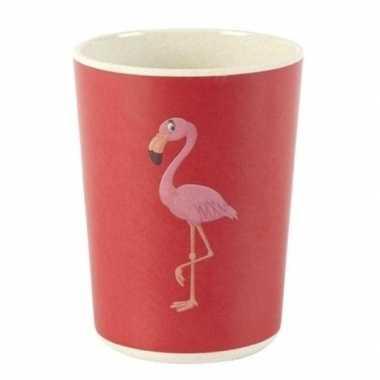 Goedkope bamboe beker flamingo kinderen