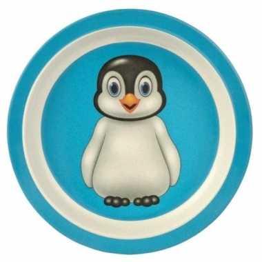 Goedkope bamboe ontbijtbord pinguin kinderen