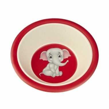 Goedkope bamboe ontbijtkom olifant kinderen