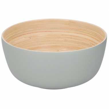 Goedkope bamboe serveerschaal grijs