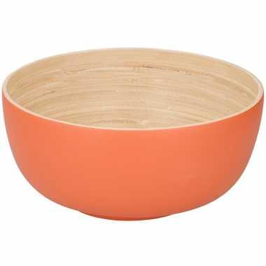 Goedkope bamboe serveerschaal oranje