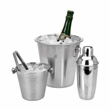 Goedkope barset ijsemmer/koelemmer/cocktailshaker