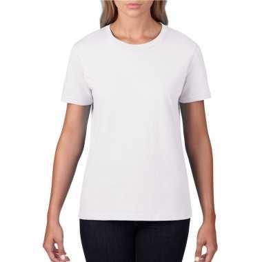 Goedkope basic ronde hals t shirt wit dames