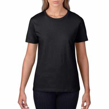 Goedkope basic ronde hals t shirt zwart dames