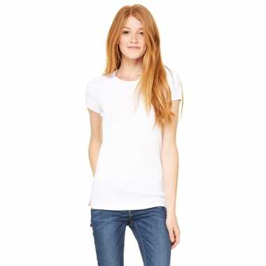 Goedkope basic t shirt wit ronde hals dames