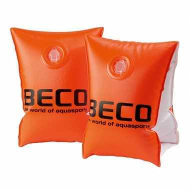 Goedkope beco zwembandjes maat oranje tot kg