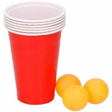 Goedkope beer pong drankspel/drinkspel