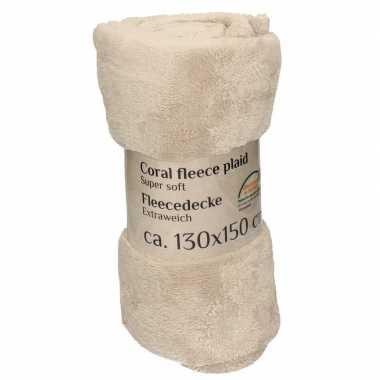 Goedkope beige fleece deken