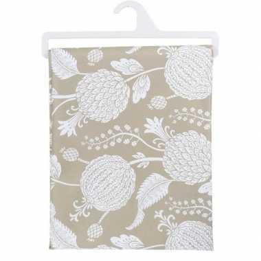 Goedkope beige tafelkleed bloemen x