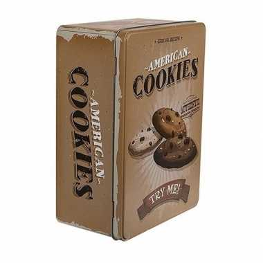 Goedkope bewaarblik american cookies bruin