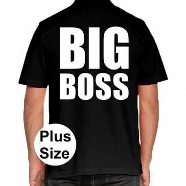 Goedkope big boss grote maten poloshirt zwart heren