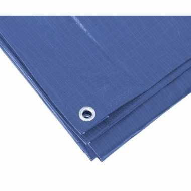 Goedkope blauw afdekzeil / dekzeil meter