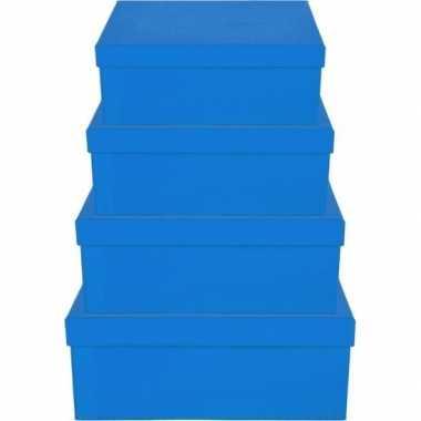 Goedkope blauw cadeaudoosje rechthoekig